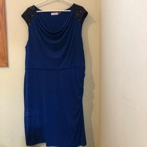 Sequin and cobalt blue Calvin Klein dress